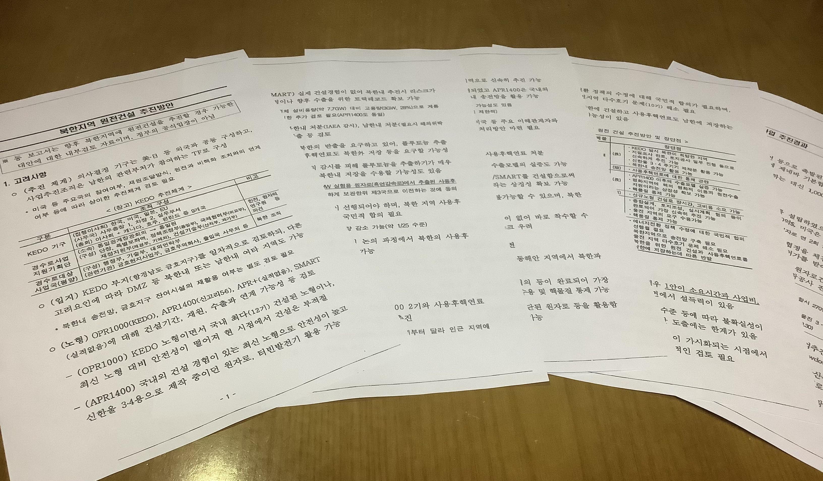 산업부 북한 원전 문서.jpg